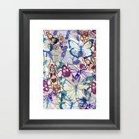 Butterflies And Bugs Framed Art Print