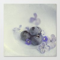 Blueberry Smile Canvas Print