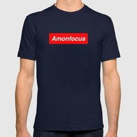 Amon Focus Mens Fitted Tee Navy SMALL