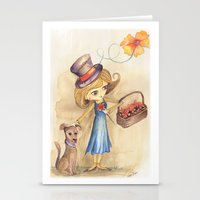 Flower Girl and her friend Stationery Cards