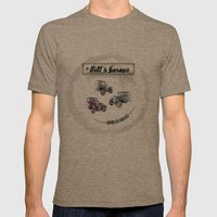 Bill's Garage Mens Fitted Tee Tri-Coffee SMALL