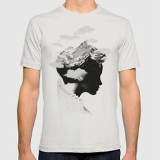 It's a cloudy day Mens Fitted Tee Silver SMALL