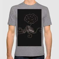 Octopus Daydream Mens Fitted Tee Athletic Grey SMALL