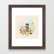 Too Super Mario Framed Art Print