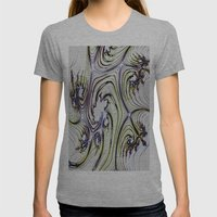 Digital Art Pattern Womens Fitted Tee Athletic Grey SMALL