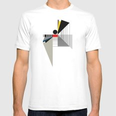 BLACK POINT Mens Fitted Tee White SMALL
