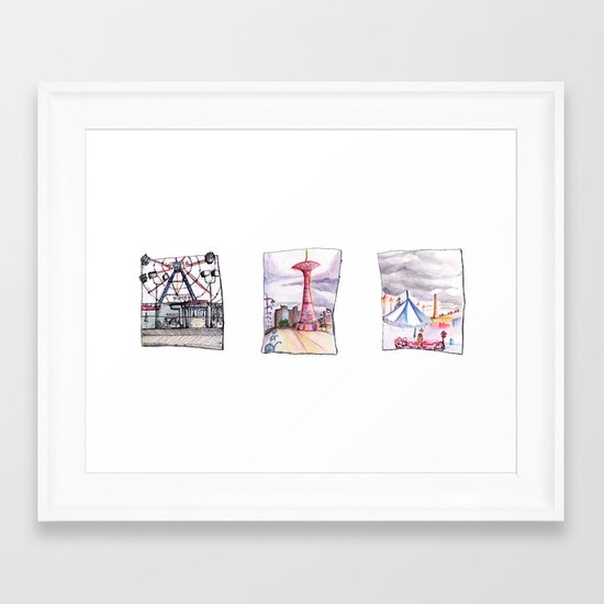 Coney Island Trio  Framed Art Print