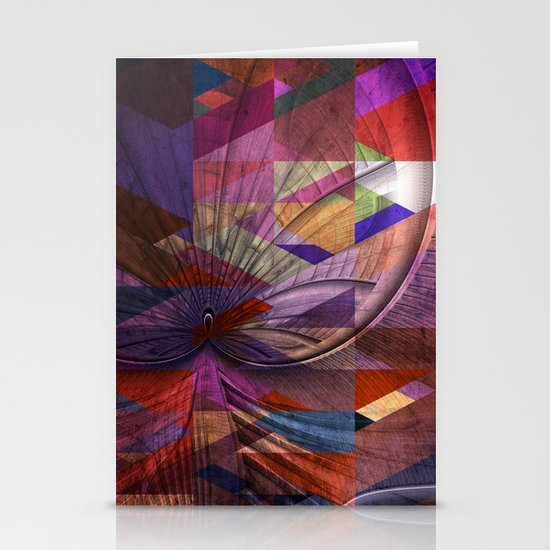 Triangle and Fractal Design Stationery Card