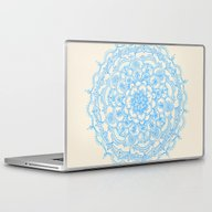 Laptop & iPad Skin featuring Pale Blue Pencil Pattern… by Micklyn