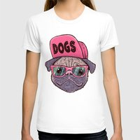 dogs T-shirts featuring Dogs by Lime