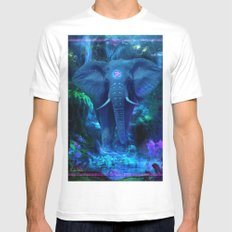 Blue Elephant SMALL Mens Fitted Tee White