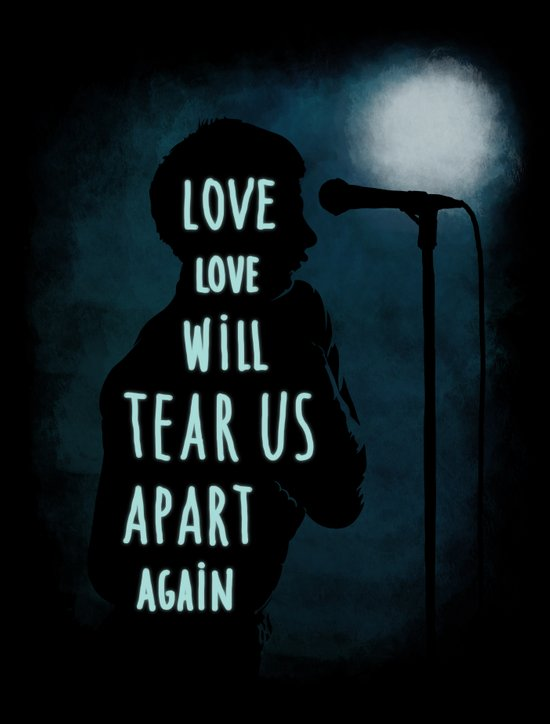 Love will tear us apart again Art Print