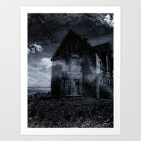 house on the edge Art Print