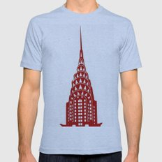 Chrysler Building Mens Fitted Tee Athletic Blue SMALL