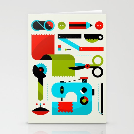 Sewing Kit Stationery Card