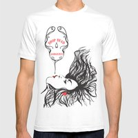 Drop Dead Gorgeous Mens Fitted Tee White SMALL