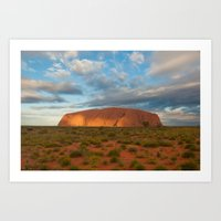 Ayers Rock at Sunset Art Print