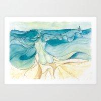 Nude At The Sea Art Print
