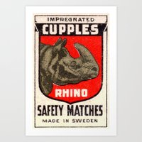 Rhino - Matchbox Art Print