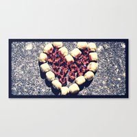 Rock Heart Canvas Print