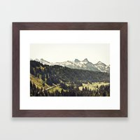 Epic Drive Through The M… Framed Art Print