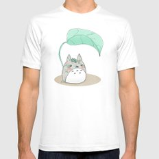 Floral Totoro White SMALL Mens Fitted Tee