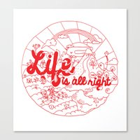 Life Is All Right (RED) Canvas Print