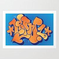 Lern 1 Bubblegum Graffit… Art Print