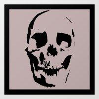 Skull Negative Art Print