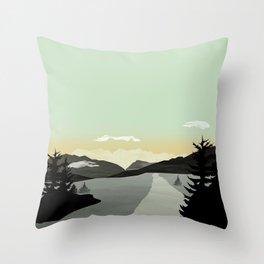 Throw Pillow - Misty Mountain II - Schwebewesen • Romina Lutz