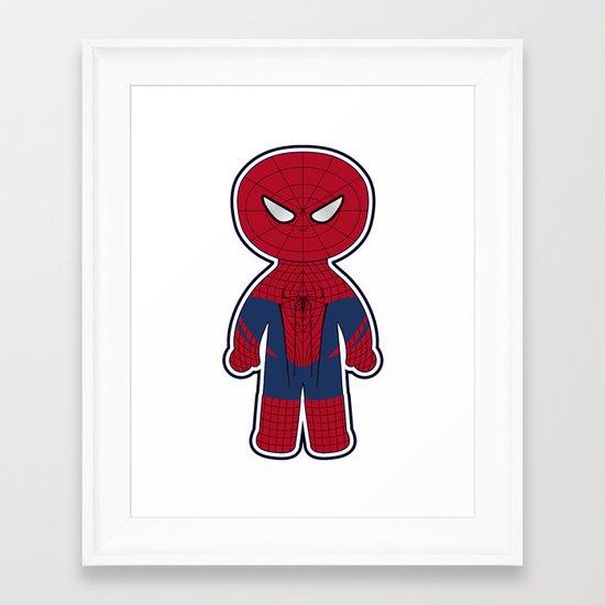 Chibi Spider-man Framed Art Print