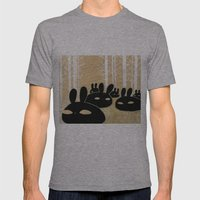 Suspicious Bunnies Mens Fitted Tee Athletic Grey SMALL