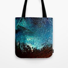 Abstract blue, white and purple painting photography Tote Bag