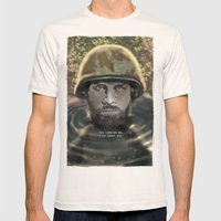 Young Man Mens Fitted Tee Natural SMALL