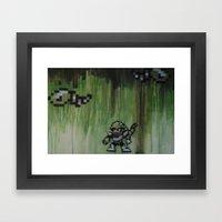 Snake man (megaman 3) Framed Art Print