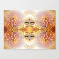 Dahlias And Orchids Flo… Canvas Print