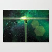 Super Bears - ACTION! the Green One Canvas Print