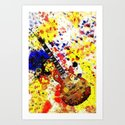 Les Paul Retro Abstract Art Print