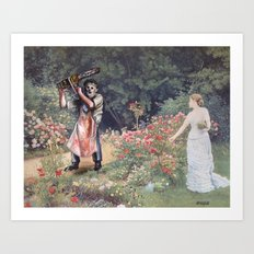 Not the Gardener Art Print