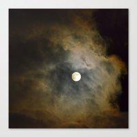 Lunar Corona  Canvas Print
