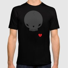HEART BREAKER - ed. fact SMALL Mens Fitted Tee Black