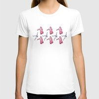 sticker monster pattern 7 Womens Fitted Tee White SMALL