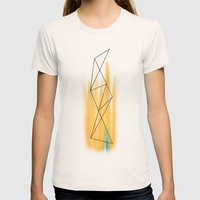 Geo - 2 Womens Fitted Tee Natural SMALL