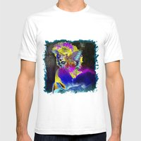 Marilin Butterfly Dolphi… Mens Fitted Tee White SMALL