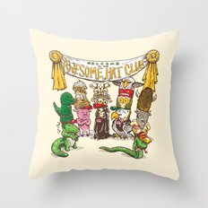 Awesome Hat Club Throw Pillow