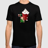 Christmas Rat 2014 Mens Fitted Tee Black SMALL