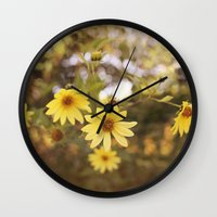 Five Flowers Wall Clock