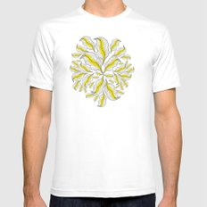 yellow---line Mens Fitted Tee White SMALL