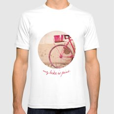 Lady in Pink White Mens Fitted Tee SMALL