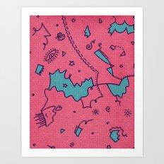Talking Heads Art Print